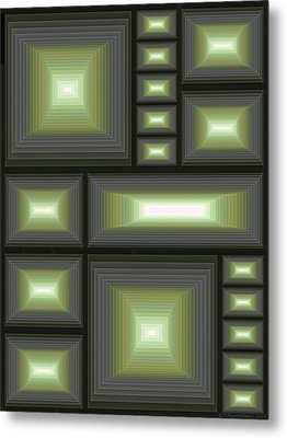 Composition 113 Metal Print by Terry Reynoldson