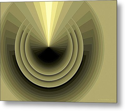 Composition 120 Metal Print by Terry Reynoldson