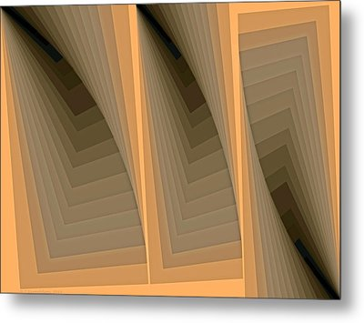 Composition 137 Metal Print by Terry Reynoldson