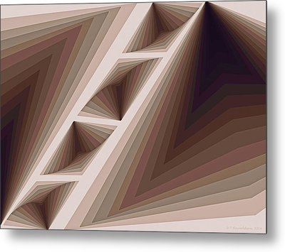 Composition 165 Metal Print by Terry Reynoldson