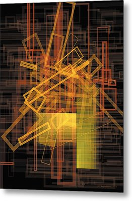 Composition 26 Metal Print by Terry Reynoldson