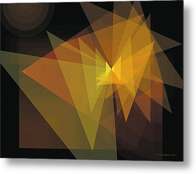 Composition 28 Metal Print by Terry Reynoldson