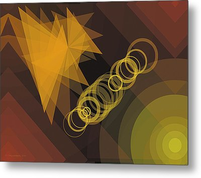 Composition 29 Metal Print by Terry Reynoldson