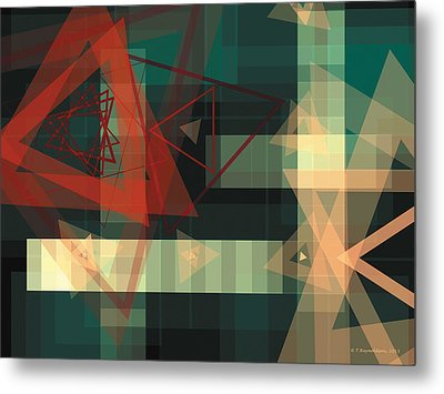Composition 36 Metal Print by Terry Reynoldson