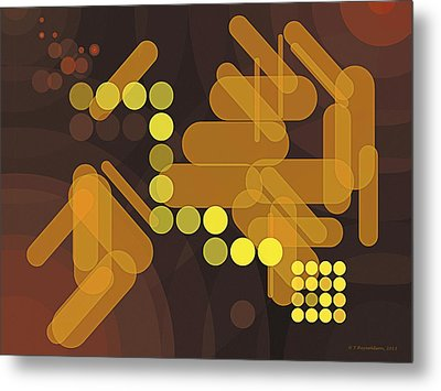 Composition 38 Metal Print by Terry Reynoldson