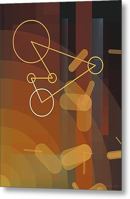 Composition 50 Metal Print by Terry Reynoldson