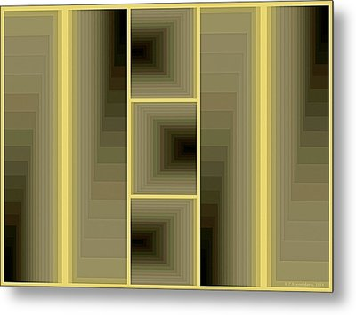 Composition 59 Metal Print by Terry Reynoldson
