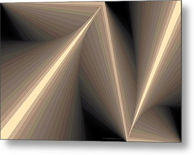 Composition 93 Metal Print by Terry Reynoldson