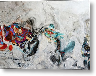Composition On White Metal Print by Andrada Anghel