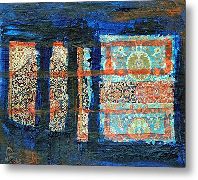 Metal Print featuring the painting Composition Orientale No 2 by Walter Fahmy