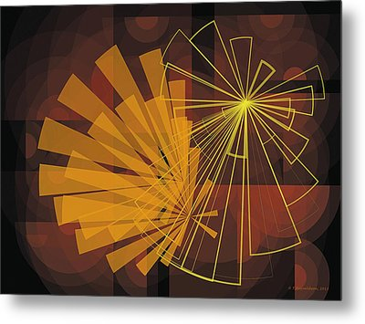 Composition16 Metal Print by Terry Reynoldson