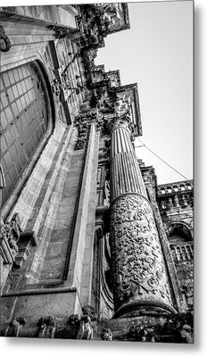 Compostela Cathedral Columns Metal Print by Justin Murazzo
