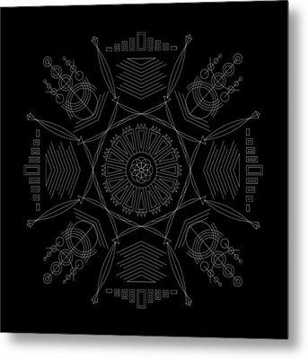 Compression Inverse Metal Print by DB Artist