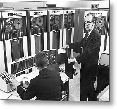 Computers Used At Gmc Metal Print