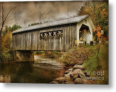 Comstock Bridge 2012 Metal Print by Deborah Benoit