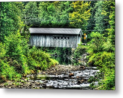 Comstock Covered Bridge Metal Print