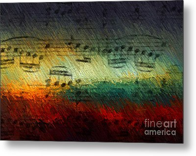 Metal Print featuring the digital art Con Fuoco by Lon Chaffin
