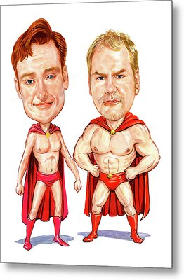 Conan  O'brien And Jim Gaffigan As Pale Force Metal Print by Art