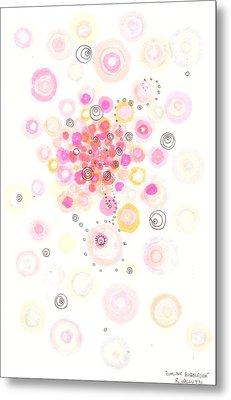 Concave Bubblegum Metal Print by Regina Valluzzi