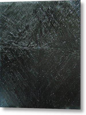 Concentric Black Diamond Pattern Metal Print by Kazuya Akimoto