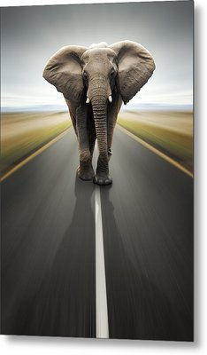 Heavy Duty Transport / Travel By Road Metal Print by Johan Swanepoel