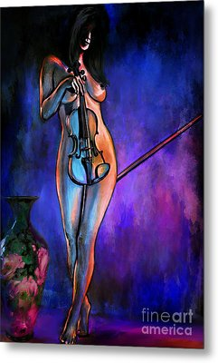 Concert At Night. Metal Print
