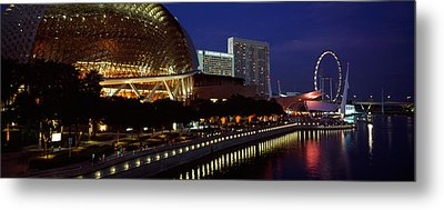 Concert Hall At The Waterfront Metal Print by Panoramic Images