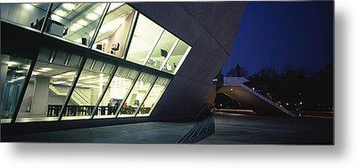 Concert Hall Lit Up At Night, Casa Da Metal Print by Panoramic Images