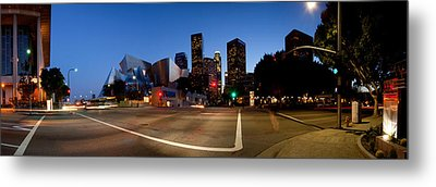 Concert Hall Lit Up At Night, Walt Metal Print by Panoramic Images