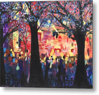Concert On The Mall Metal Print by Leela Payne