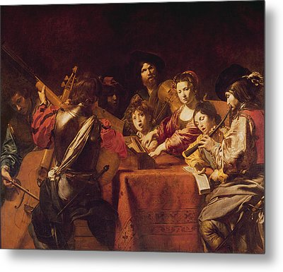 Concert With Eight People Metal Print