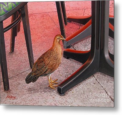 Metal Print featuring the painting Conch Chicken by Bob  George