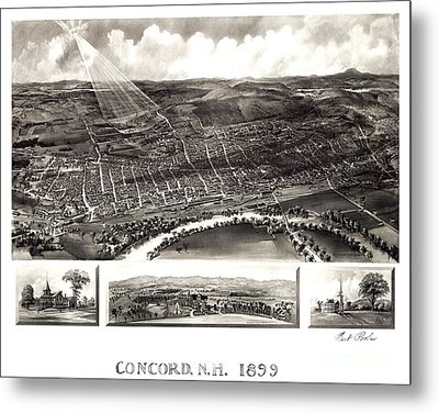 Concord - New Hampshire - 1899 Metal Print
