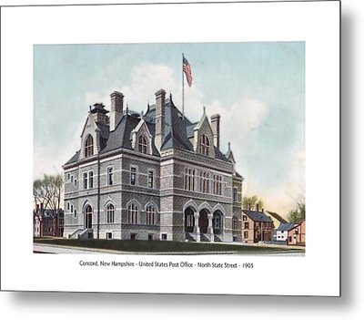 Concord New Hampshire - United States Post Office - North State Street - 1905 Metal Print