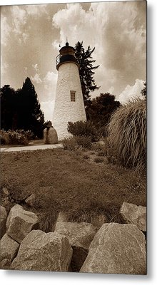 Concord Point Lighthouse Metal Print by Skip Willits