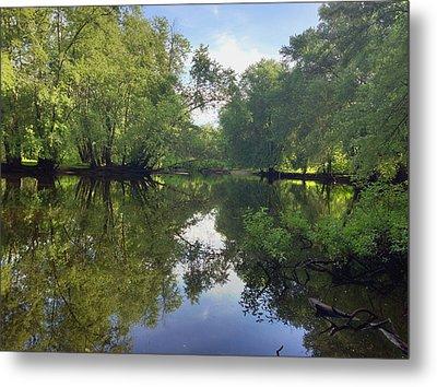 Concord River Metal Print by Nancy Landry