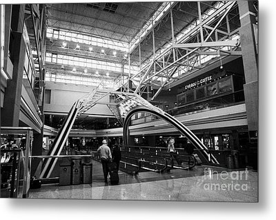 concourse B at Denver International Airport Colorado USA Metal Print by Joe Fox