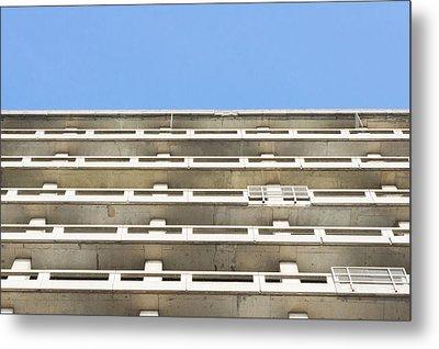 Concrete Building Metal Print by Tom Gowanlock