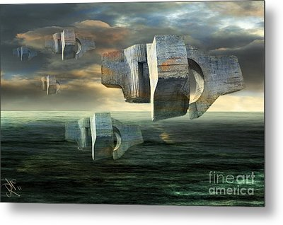 Concrete Clouds Chillida Metal Print by Rosa Cobos