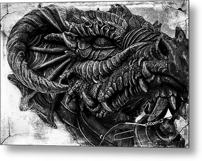 Concrete Dragon  Metal Print by Sheena Pike
