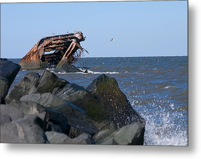 Metal Print featuring the photograph Concrete Ship by Greg Graham