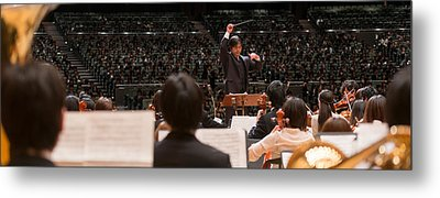 Conductor Leading Orchestra Metal Print by Panoramic Images