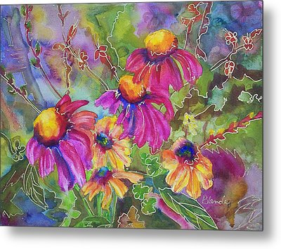 Coneflowers And Co  Metal Print by Blenda Studio