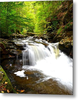 Conestoga Falls Metal Print by Frozen in Time Fine Art Photography