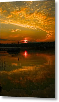 Conesus Sunrise Metal Print by Richard Engelbrecht