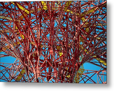 Coney Island Abstract Expressionist Metal Print