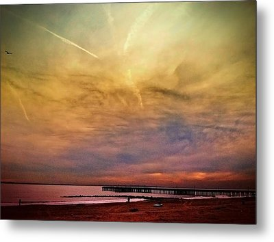 Coney Island After Sandy Metal Print by Frank Winters