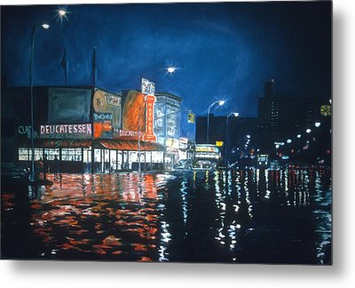 Poppy's Cafe, Greenwich Village, 1983  Metal Print