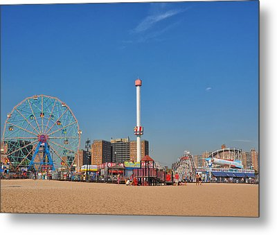 Coney Island Astroland Metal Print