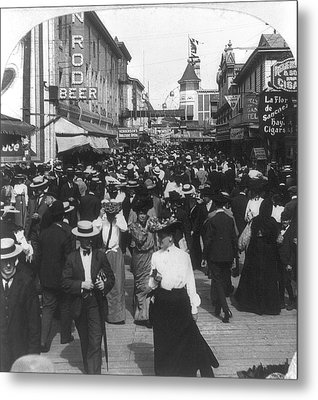 Coney Island Bowery, 1903 Metal Print by Granger